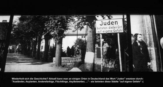 Für Juden gefährlich - und jetzt für Flüchtlinge und andere Fremde