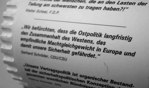 Ostpolitik in Deutschland. Mit Gerhard Schröder, CDU