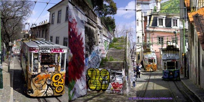 Lissabon: Standseilbahn-Collage